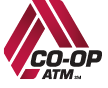 The Co-op ATM partnership logo.