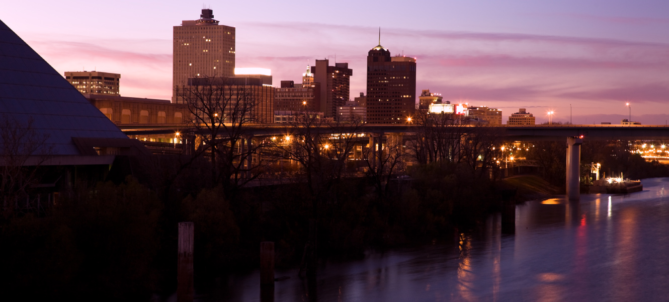 The city skyline of Memphis Tennessee.